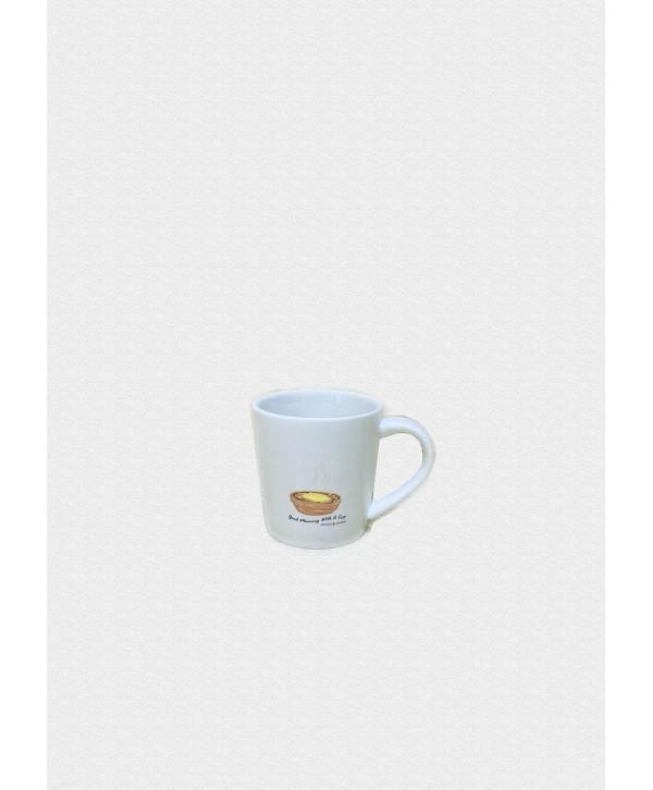 葡撻圖案咖啡杯